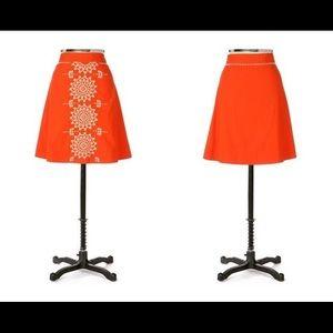 Anthropologie Lithe Gilded Dawn Skirt Beaded 8